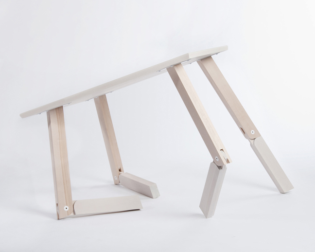 Walking table le bureau d port blog esprit design for Table basse norvegienne